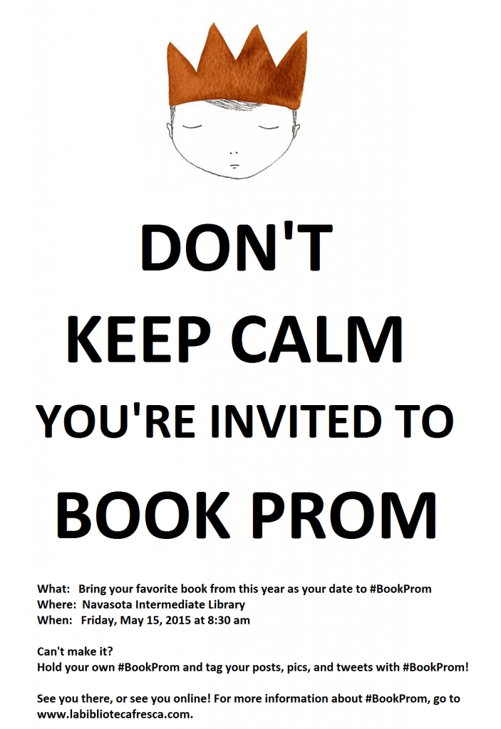 Invitation to Navasota Book Prom